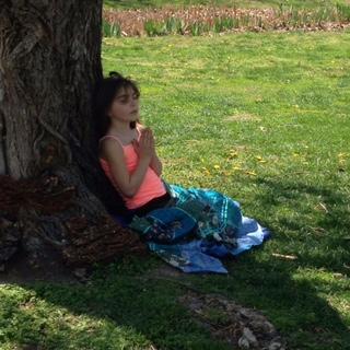 Lorelai meditating